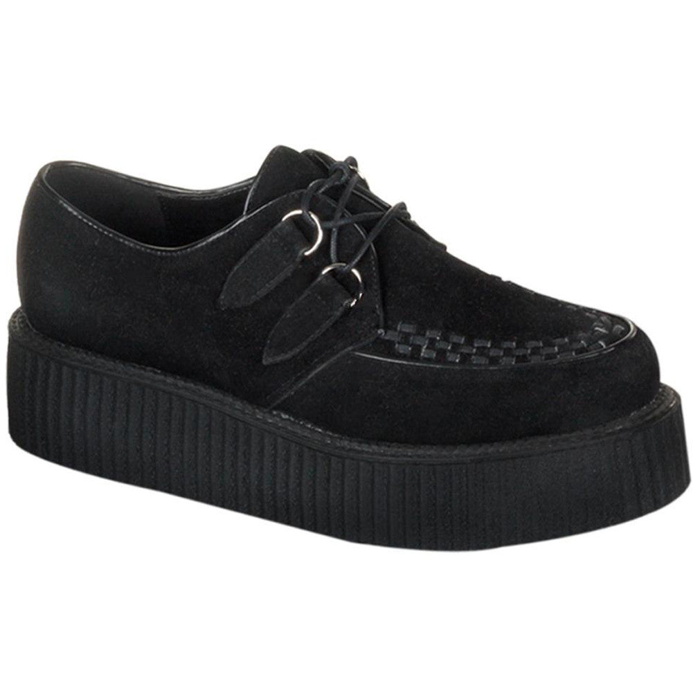 Unisex Demonia Creeper-402S Suede Shoe Black Punk Goth Psychobilly