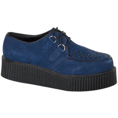 Unisex Demonia Creeper-402S Suede Shoe Blue Punk Psychobilly