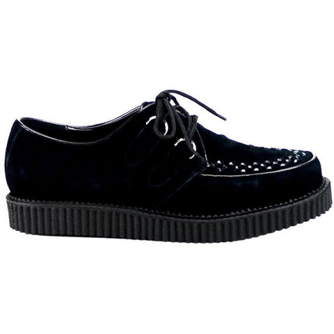 Unisex Demonia Creeper-602S Suede Shoe Black Punk Goth Psychobilly