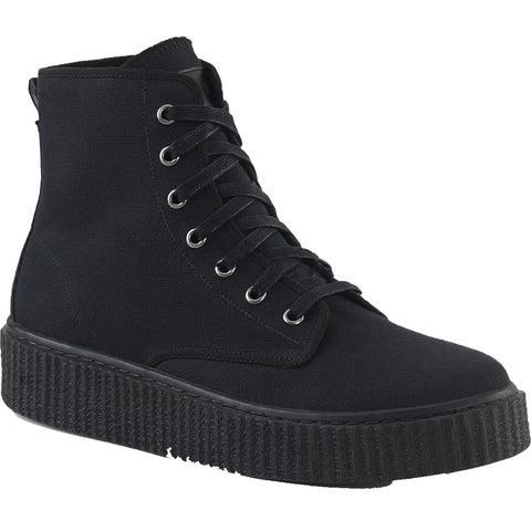 Unisex Demonia SNEEKER-201 High Top Creeper Sneaker Black Goth Punk Alternative