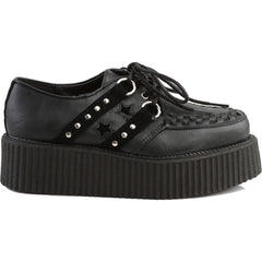 Unisex Demonia V-CREEPER-538 Platform Oxford Creeper Black Studded Punk Goth