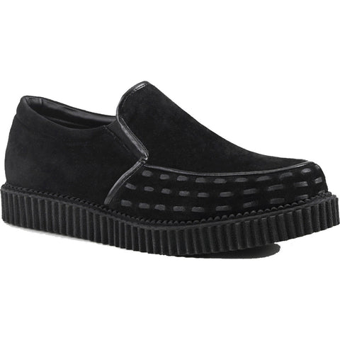 Unisex Demonia V-CREEPER-607 Loafer Black Goth Punk Rockabilly