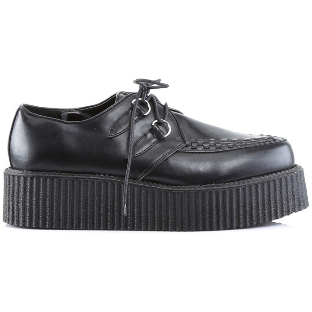 Unisex Demonia V-Creeper-502 Shoe Black Punk Goth Psychobilly