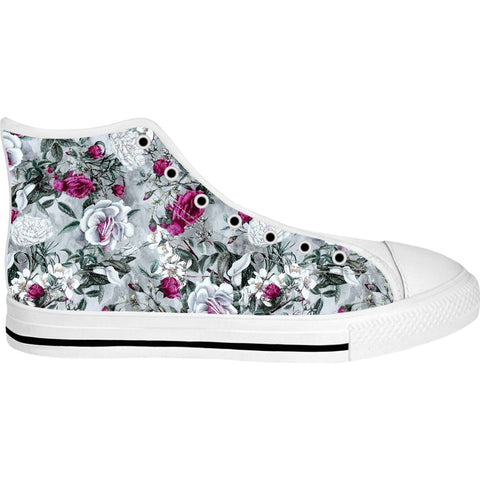 Unisex Floral II High Top Canvas Shoe