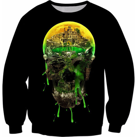 Unisex Haunted Skull Sweatshirt
