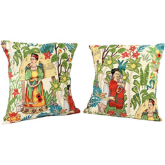 Hemet Frida Art Mexican Novelty Pillow Cover Red Shawl Latina