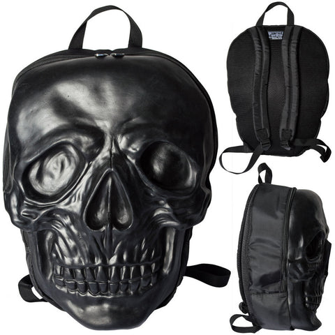 Unisex Kreepsville Skull Backpack Black Horror Punk Goth
