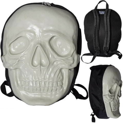 Unisex Kreepsville Skull Backpack Natural Glow Horror Punk Goth