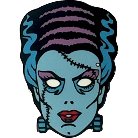 Retro-a-go-go! Nightmare Bride Enamel Pin Blue/Purple Bride of Frankenstein