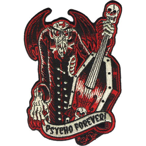 Retro-a-go-go! Psycho Forever Patch Red/Black Music Nosferatu Inspired Monster