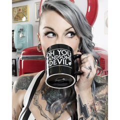 Sourpuss Oh You Handsome Devil Mug Black Coffee Cup