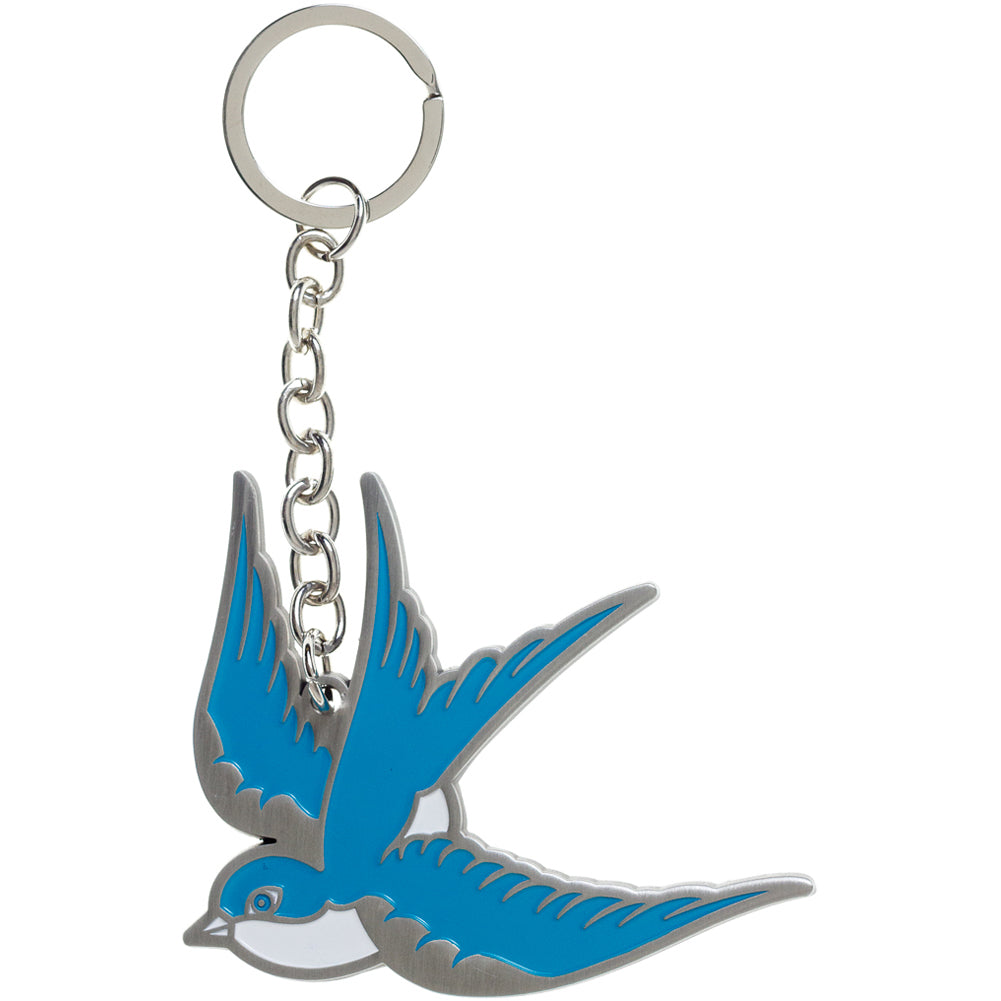 Sourpuss Sparrow Key Chain Blue Rockabilly Tattoo Flash