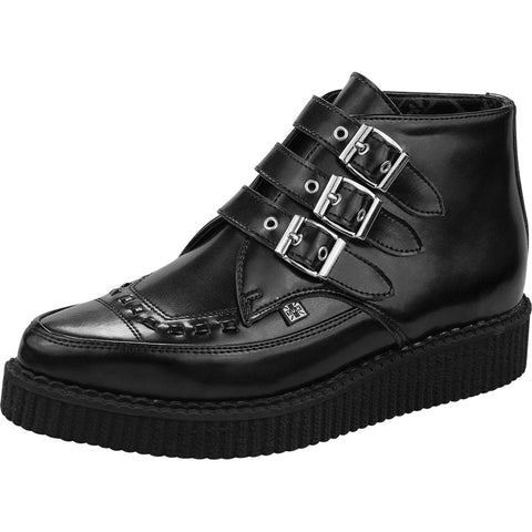 Unisex T.U.K. Unisex T.U.K. 3-Buckle Pointed Creeper Boots Punk Goth Alternative