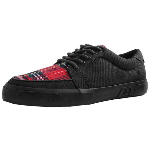 Unisex T.U.K. Canvas & Plaid VLK Sneaker Black Shoe