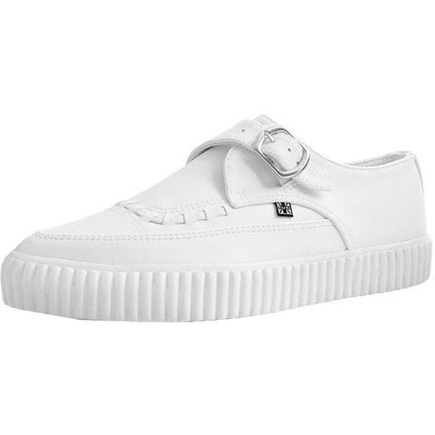 Unisex T.U.K. Faux Leather Pointed Buckle EZC White Shoe