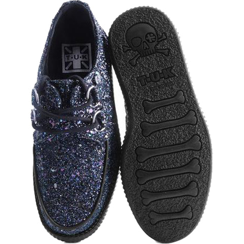 Unisex T.U.K. Jewels Glitter Creeper Black Punk Sparkle Goth Alternative