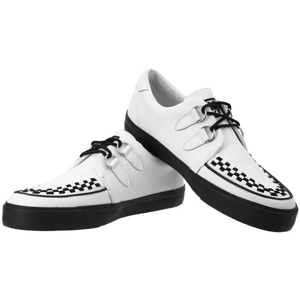 Unisex T.U.K. Leather D-Ring VLK Sneaker White Shoes