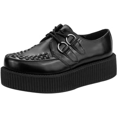 Unisex T.U.K. Leather Viva Creeper Black Punk Rockabilly Goth