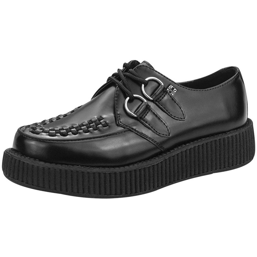 Unisex T.U.K. Low Sole Viva Creeper Black Punk Rockabilly Goth