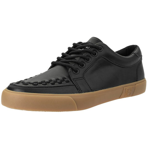 Unisex T.U.K. Leather No-Ring VLK Sneaker Black  Shoes