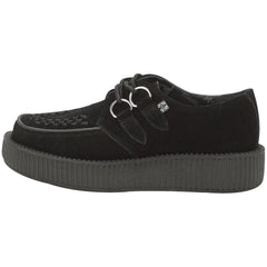 Unisex T.U.K. Suede Low Viva Creeper Black Punk Rockabilly Goth