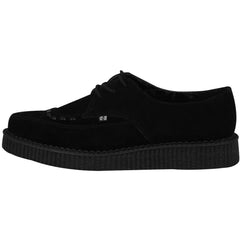 Unisex T.U.K. Suede Pointed Creeper Black Punk Rockabilly Goth