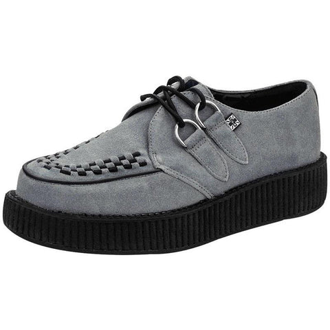Unisex T.U.K. Suede Viva Creepers Grey Punk Rockabilly