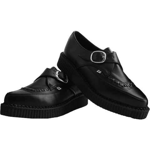Unisex T.U.K. TUKskin Pointed Buckle Creeper Black Punk Goth Alternative