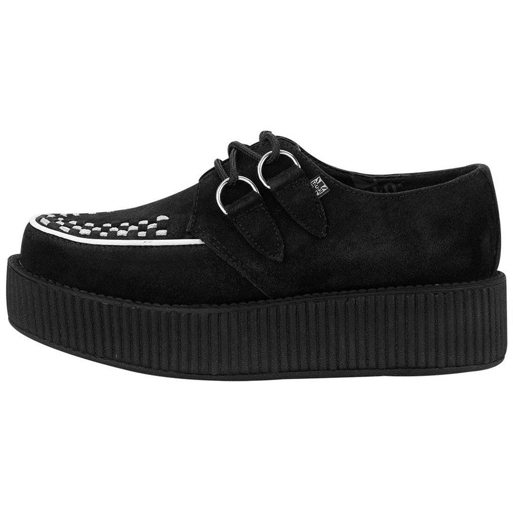 Unisex T.U.K. Two Tone Suede Creepers Black/White Punk Rockabilly Goth