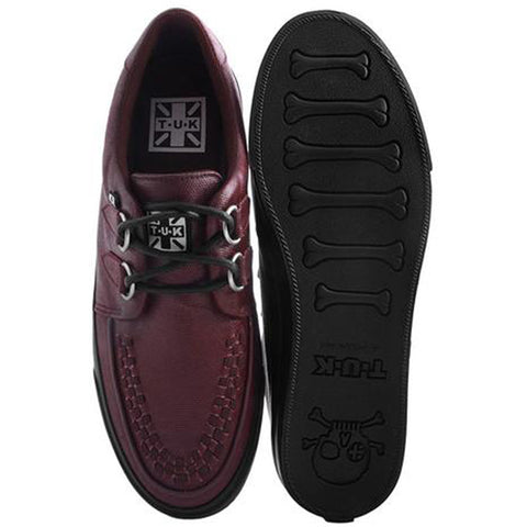 Unisex T.U.K. Wax Canvas VLK Sneaker Burgundy Alternative