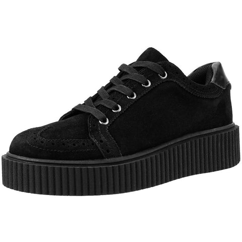Unisex T.U.K. Wingtip Casbah Creeper Black Punk Rockabilly Goth