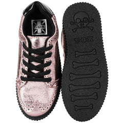 Unisex T.U.K. Wingtip Casbah Creeper Rose Gold Metallic Look
