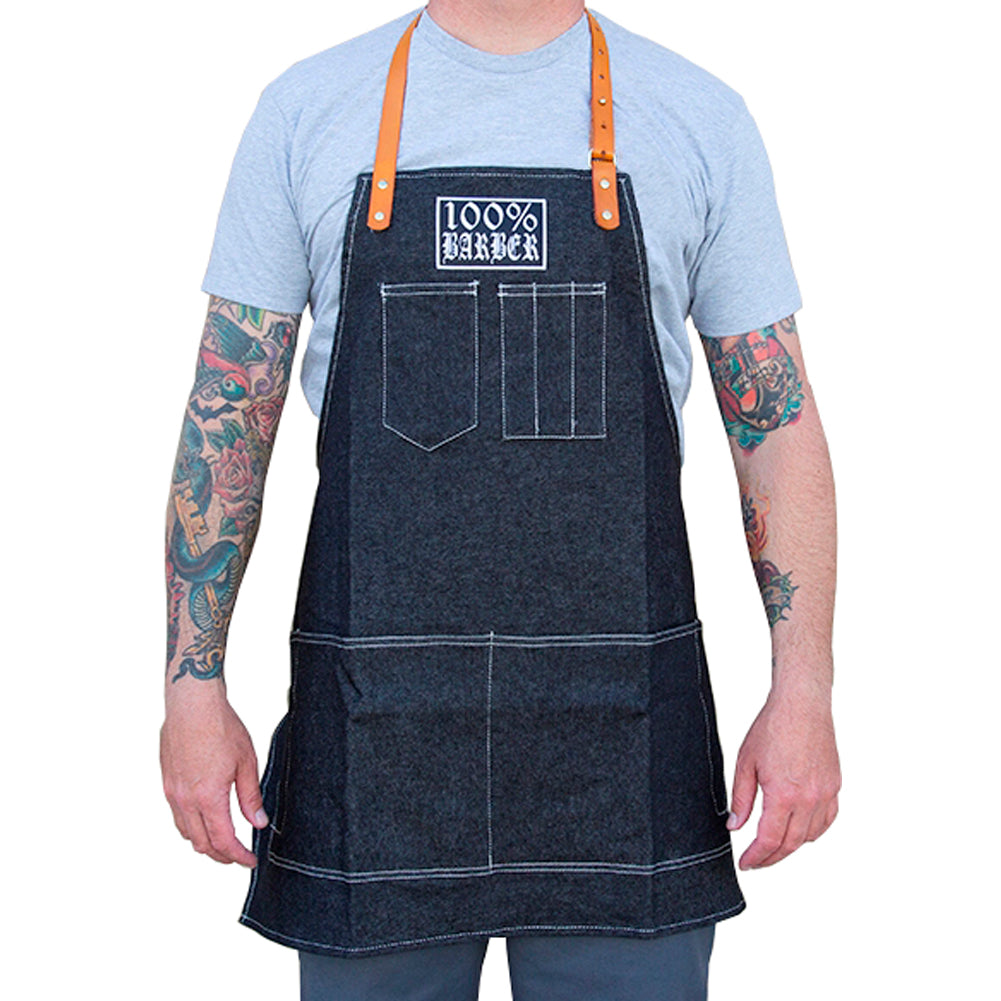 Tip Top Industries 100% Barber Cutting Apron Black Barber Lifestyle Gear