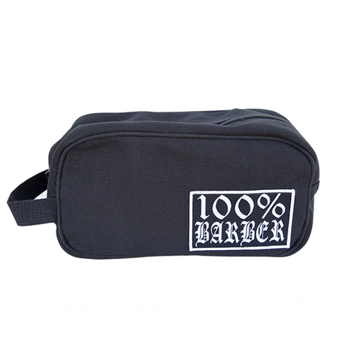 Tip Top Industries 100% Barber Travel/Toiletry Bag Black Barber Lifestyle Gear