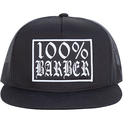 Tip Top Industries 100% Barber Trucker Hat Black Barber Lifestyle Gear