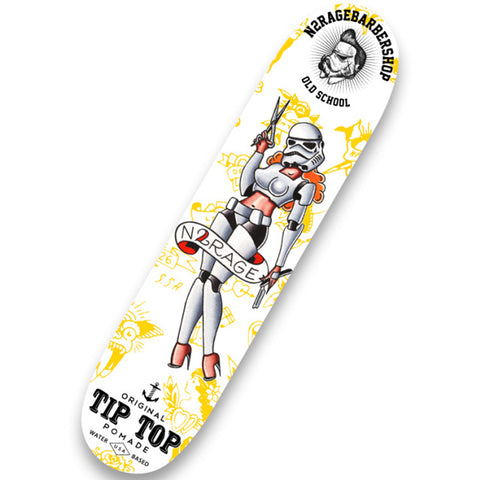 Tip Top Industries Trooper Girl Skate Deck White Tattoo Flash Pin Up