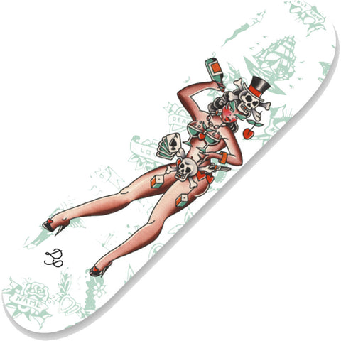 Tip Top Industries Voodoo Girl Skatedeck Pin Up Tattoo Flash Art