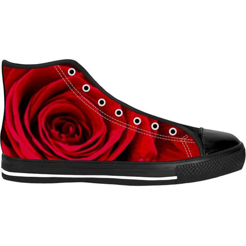 Unisex Walking On Rose Petals High Top Canvas Shoes