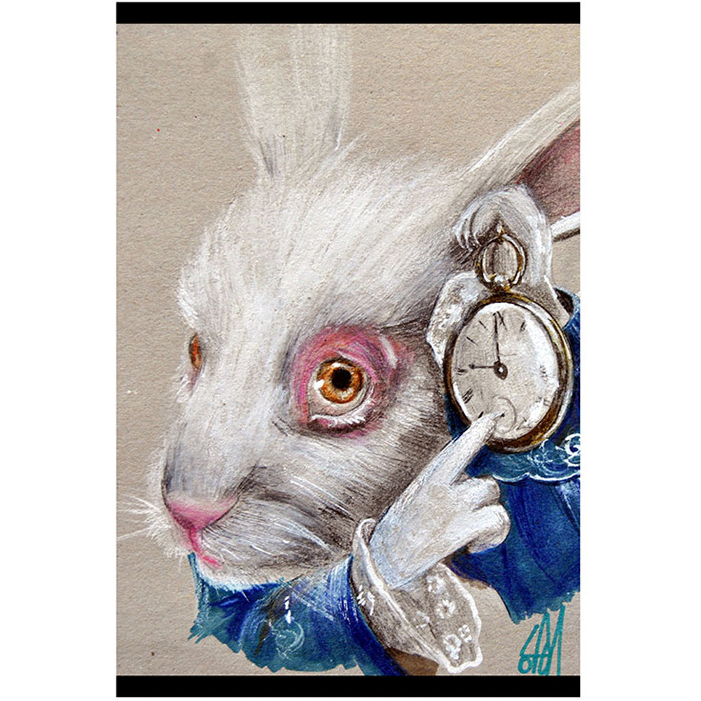 White Rabbit Fine Art Print by Manuela Lai Alice In Wonderland