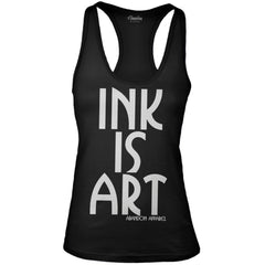 Women's Abandon Apparel Ink Is Art Tank Top Black Tattoo Inked Tattooed