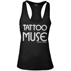 Women's Abandon Apparel Tattoo Muse Tank Top Black Inked Ink Tattooed Lifestyle