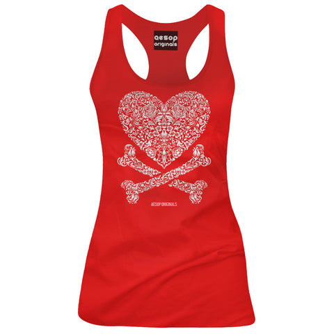 Women's Aesop Originals Cross My Heart Tank Top Red Bones