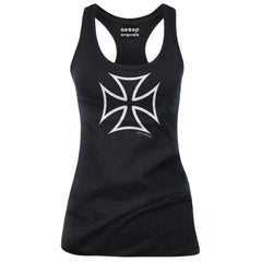 Women's Aesop Originals Hot Rod Iron Cross Tank Top Black Punk