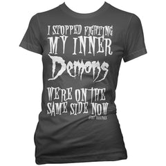Women's Aesop Originals I Stopped Fighting My Inner Demons T-Shirt Goth