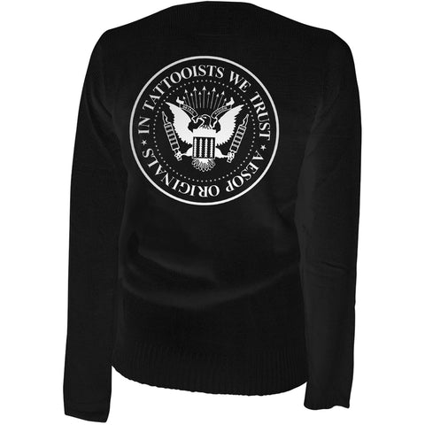Women's Aesop Originals In Tattooists We Trust Cardigan Black Tattoo