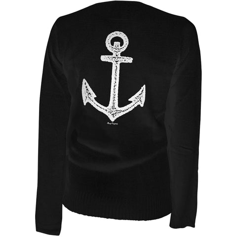 Women's Aesop Originals Pirate Of Destiny Anchor Cardigan Black Rockabilly