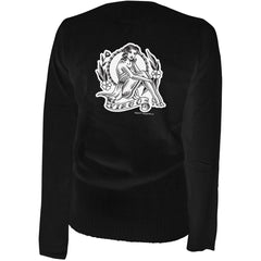 Women's Aesop Originals Virgo - Retro Zodiac Pinup Tattoo Cardigan Black Tattoo