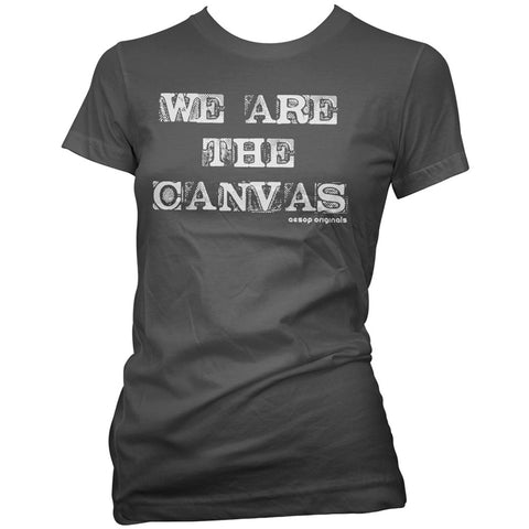 Women's Aesop Originals We Are The Canvas T-Shirt Tattoo Ink Inked Tattooed