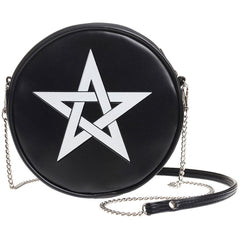 Alchemy of England Pentagram Bag Black/White Goth Gothic Occult Witch