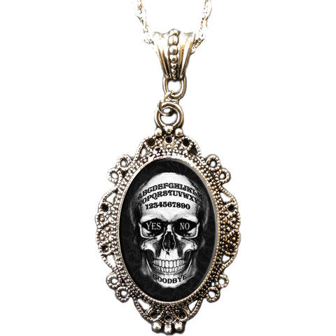 Alkemie & Artistry Skull Ouija Cameo Necklace Occult Goth Gothabilly